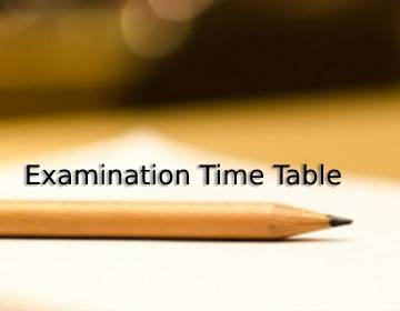 Rescheduled BPT Examination Time Table